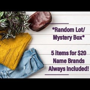 Mystery Box Random Lot Men's Clothes 5 for $20